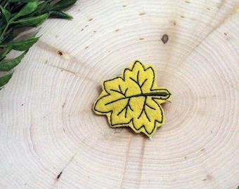 Feltie Maple Leaf Hair Clip Alligator Clip Accessory for Fall