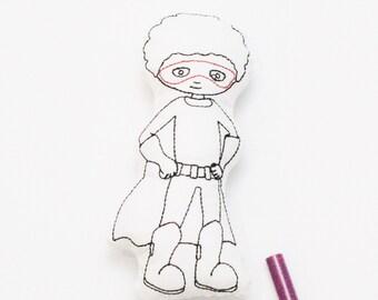 Superhero Boy Doodle Doll