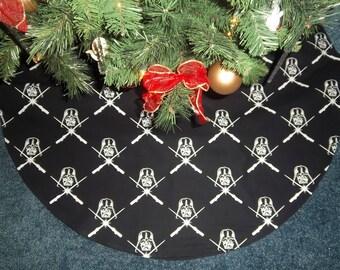 star wars darth vader christmas tree 35 glows in the dark - Christmas Tree Skirts Etsy