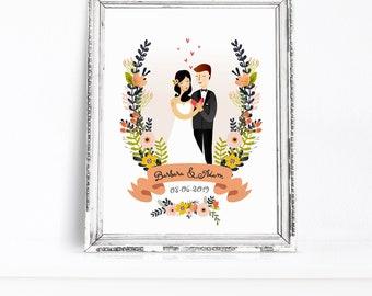 Wedding illustration | Etsy