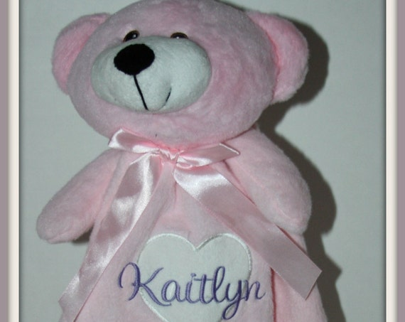 Personalized Baby Blanket,  baby lovey, snuggley, blankey