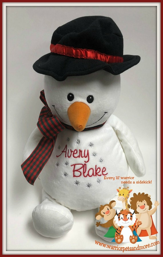 Snowman, Christmas, plush, monogrammed, personalized, Frosty