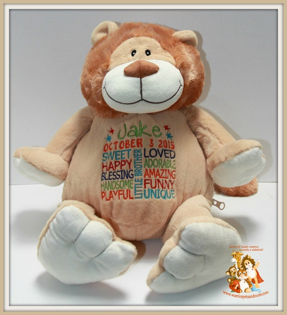 Little brother, personalized stuffed animal