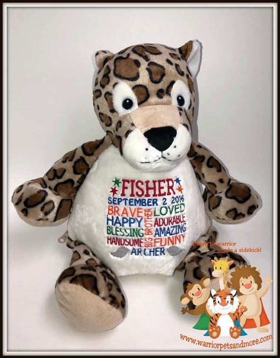 Big Brother of an Angel, personalized stuffed animal