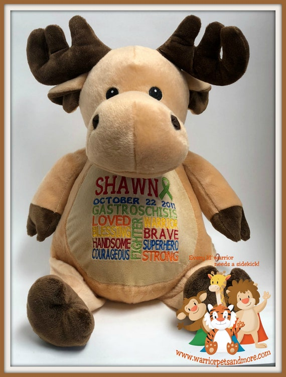Gastroshisis, Warrior Pet, personalized, stuffed animal