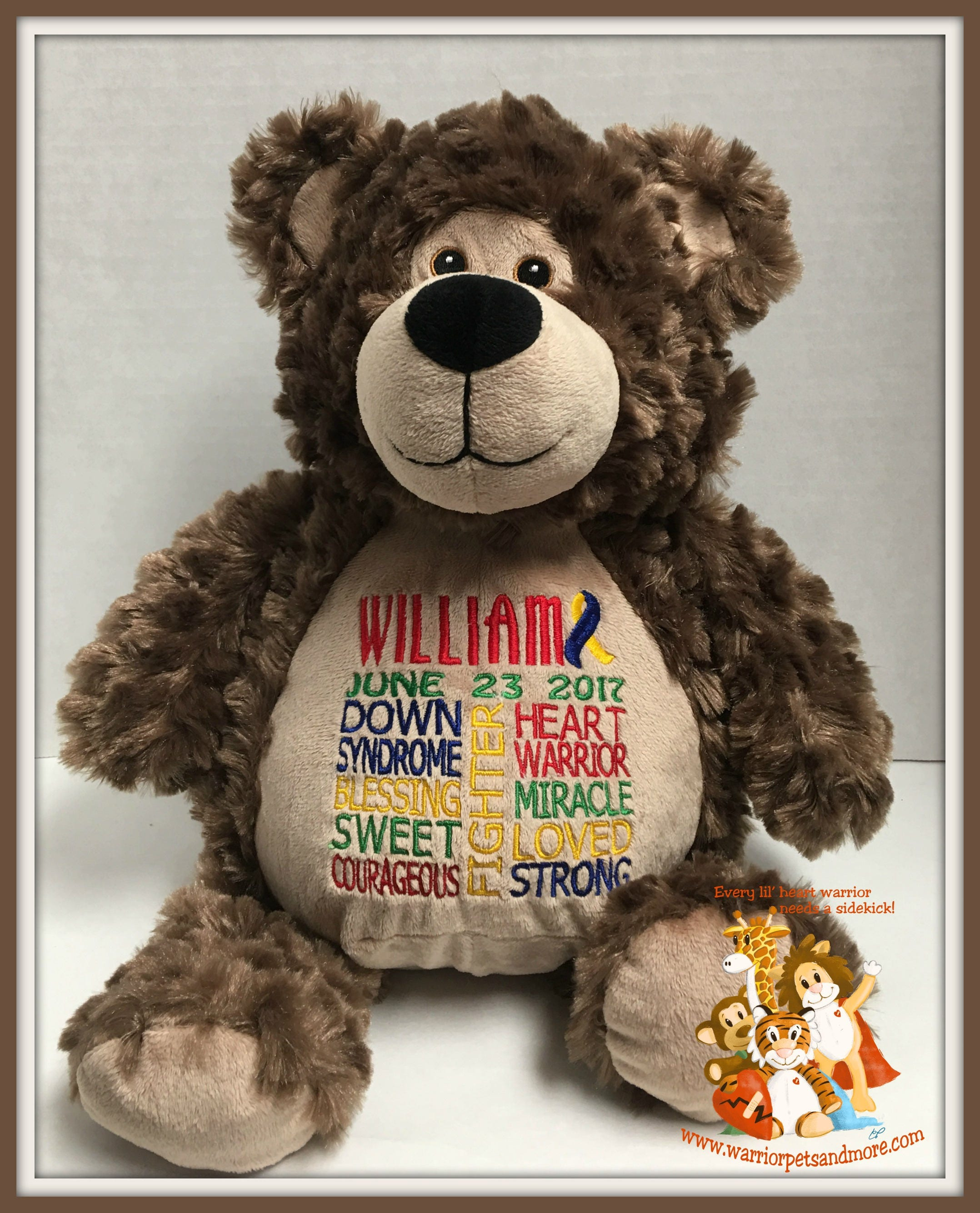 Image of: Upside Down Warrior Pets And More Down Syndrome Personalized Warrior Pet Stuffed Animal