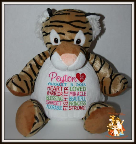 CHD personalized Tiger Warrior Pet, stuffed animal