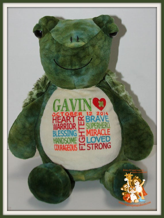 CHD, Turtle Warrior Pet, personalized, stuffed animal, warrior pet