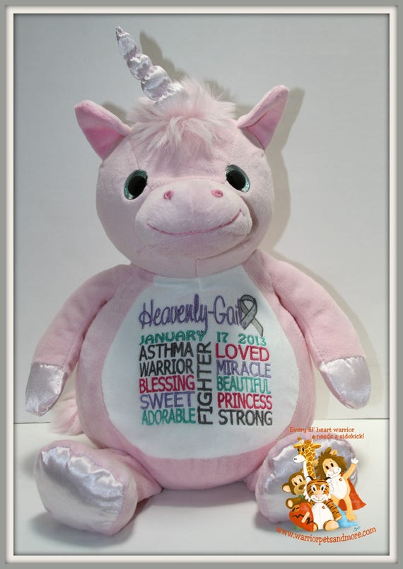 Asthma, Warrior Pet, stuffed animal, Unicorn