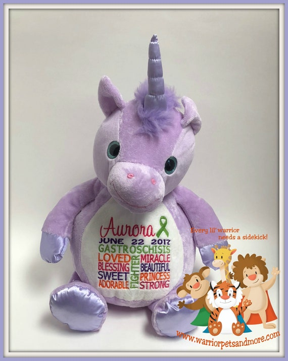 Gastroschisis,  personalized, Warrior Pet, stuffed animal