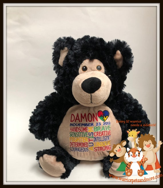 Autism, Warrior Pet, personalized, stuffed animal