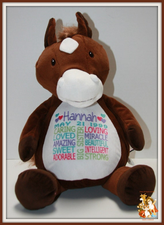 Big sister, personalized stuffed animal