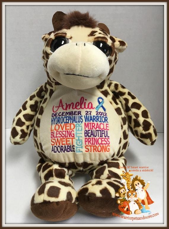 Hydrocephalus Warrior, Giraffe Warrior Pet, personalized, stuffed animal, warrior pet