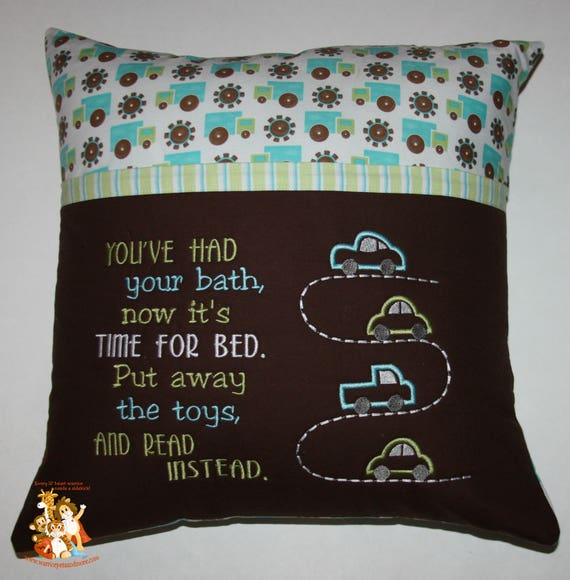Reading Pillow,  pocket pillow, cars, boys, toys, book