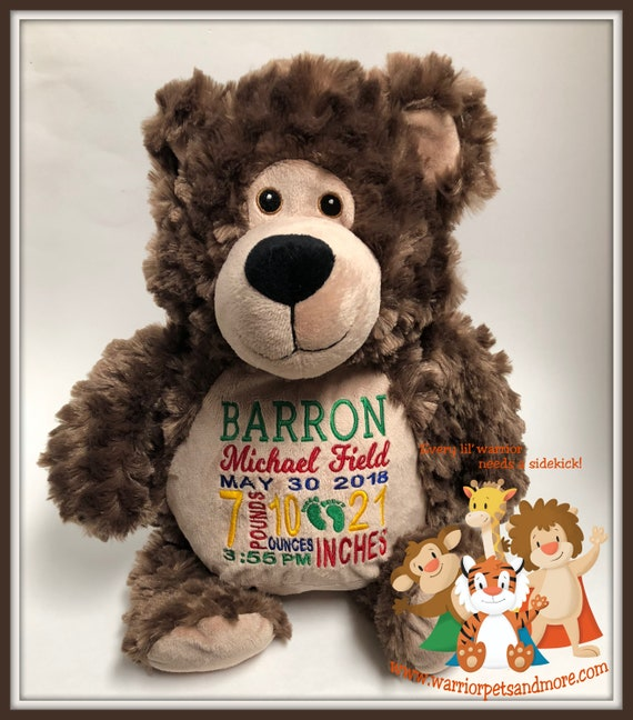 Birth Stat Pets Personalized Teddy Bear