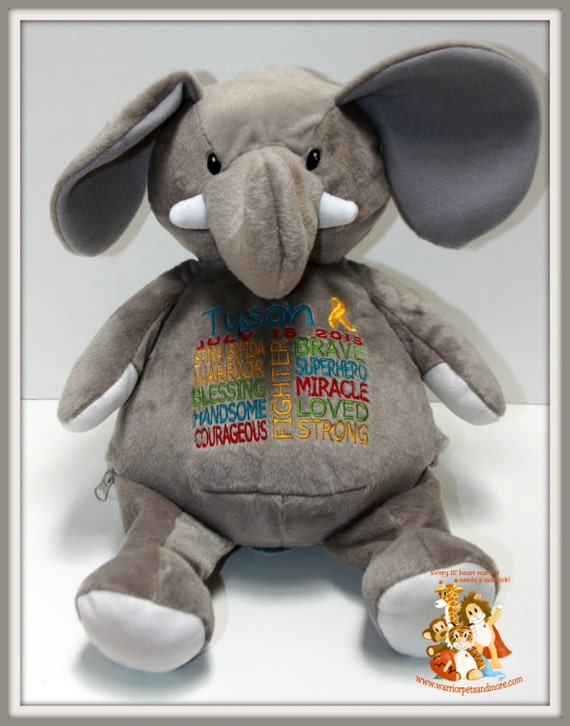 Spina Bifida personalized  Warrior Pet, stuffed animal