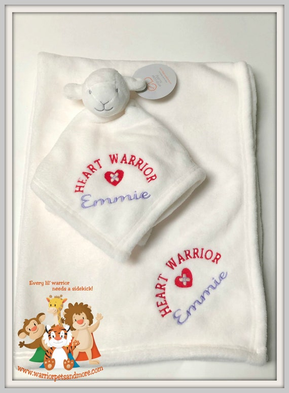 Heart Warrior Blanket Set, Blanket and Blankey Pet, Lamb