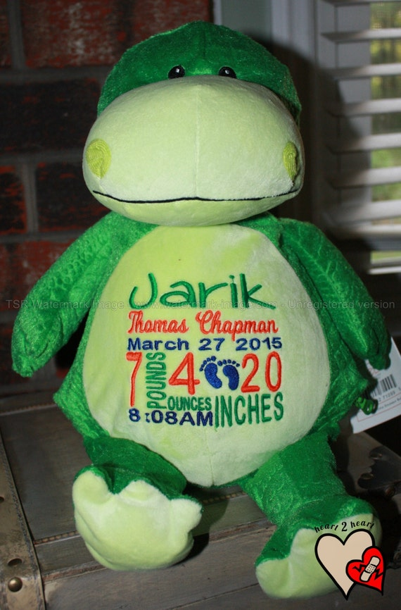 Birth Stat Pets Personalized Dinosaur, stuffed animal