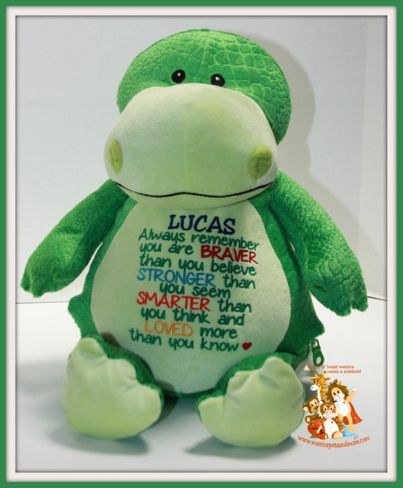 Always remember you are Braver, Stronger, Smarter, Loved, stuffed animal