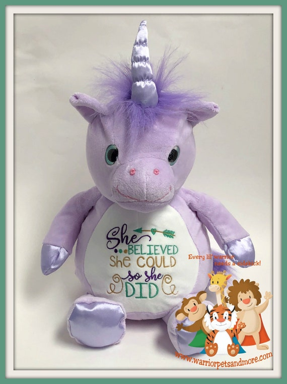 She believed she could, stuffed animal, unicorn