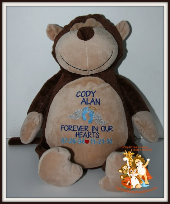 Angel, Pets Personalized, Memory Animals, stuffed animal, monkey
