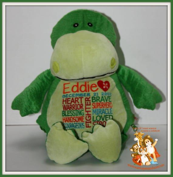 CHD, personalized Dinosaur, Warrior Pet, stuffed animal, Heart defect