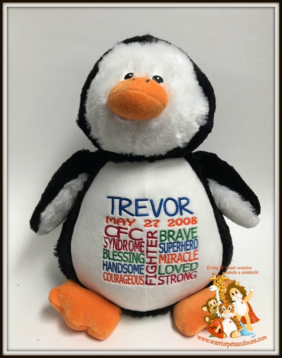 CFC, personalized Penguin Pet, stuffed animal, warrior pet