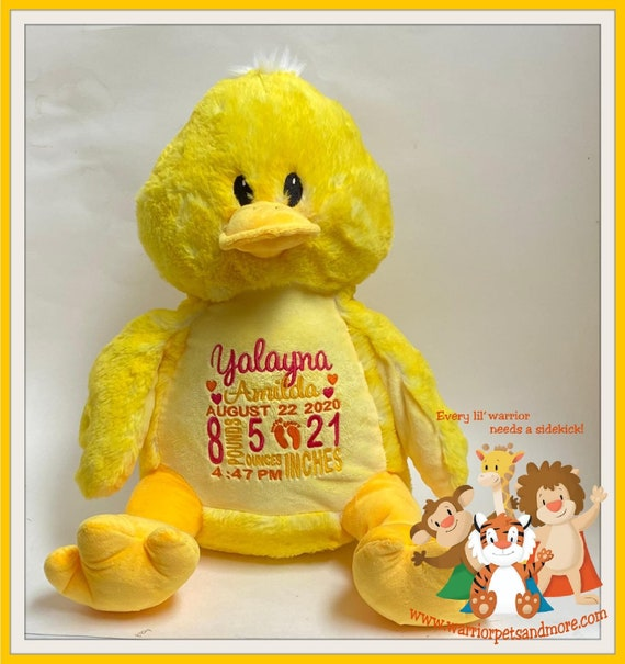Birth Stat Pets Personalized Duck