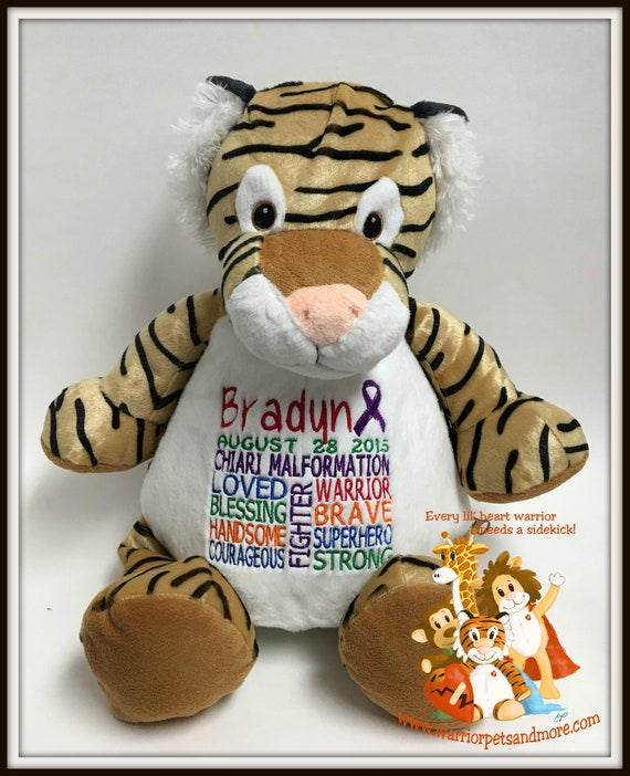 Chiari Malformation,  personalized  Warrior Pet, stuffed animal