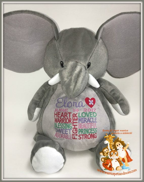 CHD personalized Elephant Warrior Pet, stuffed animal