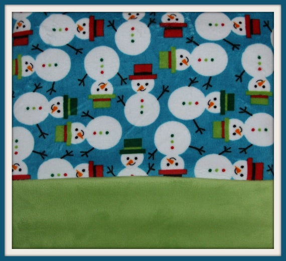 Minky Blanket -  Snowman print