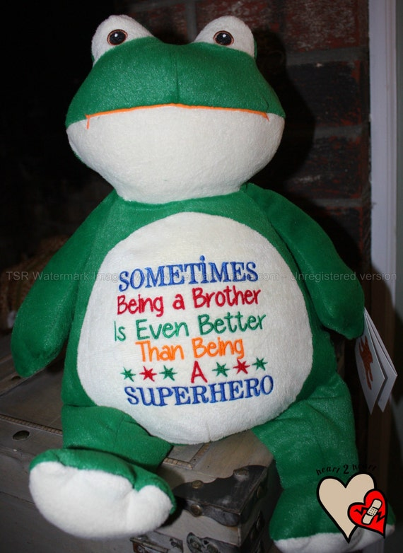 Sometimes Being a Brother is Even Better than Being a Superhero, stuffed animal, warrior pet