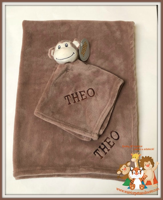 Blanket Set, Blanket and Blankey Pet, Monkey,