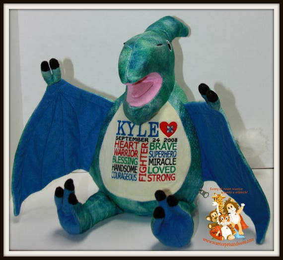 CHD, personalized, Dinosaur, Warrior Pet, stuffed animal, Heart Warrior,