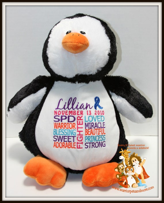 SPD, Warrior Pet, personalized, stuffed animal. sensory processing disorder