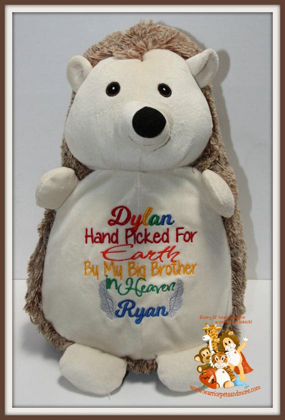 Handpicked for Earth by My Big Sister/Big Brother in Heaven, stuffed animal