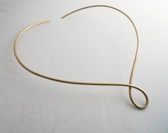 Choker Collar V Necklace 14k Gold Filled
