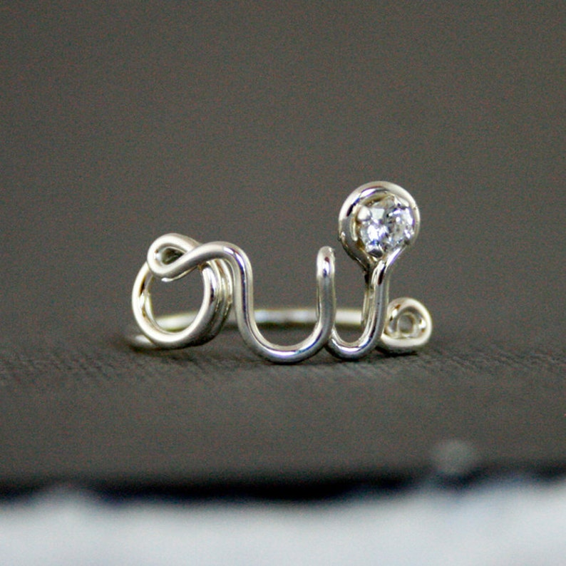 Oui Ring 925 Sterling Silver with CZ