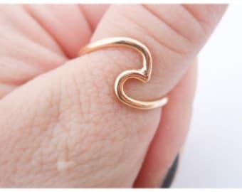 14k Gold Filled - Ocean Wave Ring