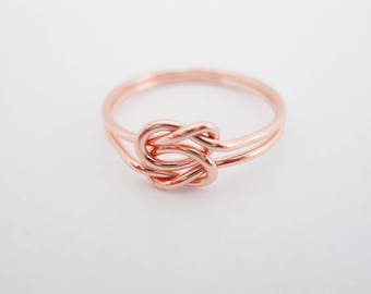 Love Knot 14k Rose Gold Filled Infinity Ring