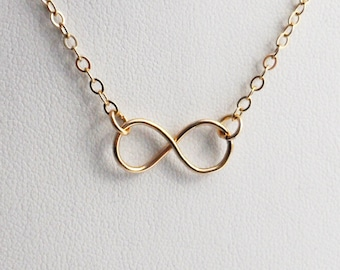 Infinity Necklace Pendant with Chain