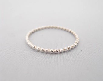 Sterling Silver Bead Strand Ring