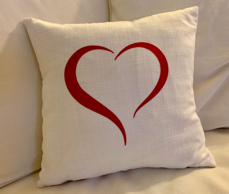 Valentine pillows/heart cutout/love decor/gifts for her/red image 0