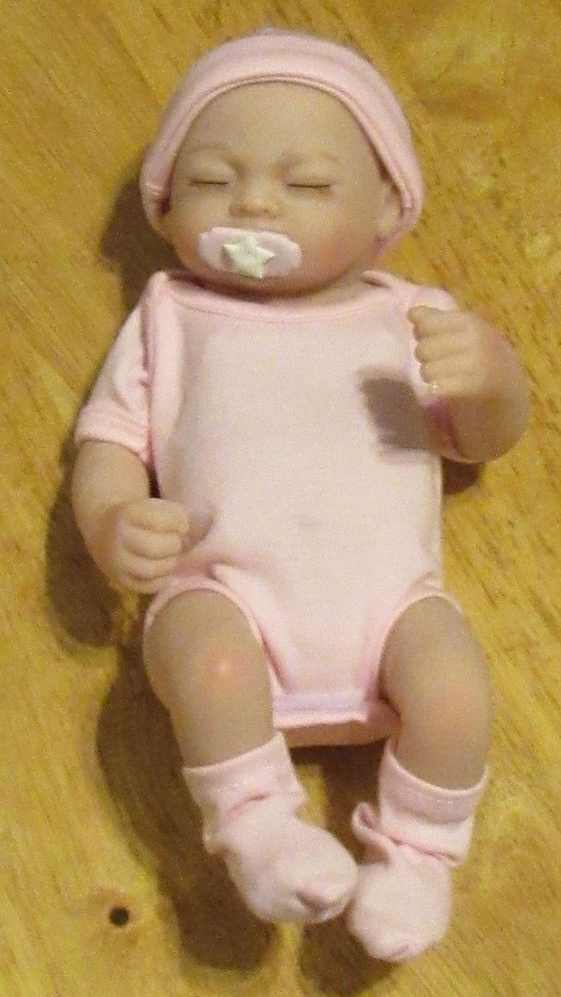 Reborn baby doll bottles blue Preemie Faux Fake milk and apple juice