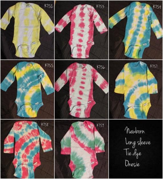 Reborn baby doll clothes 1 tie dye Preemie organic Gerber onesie bodysuit OOAK