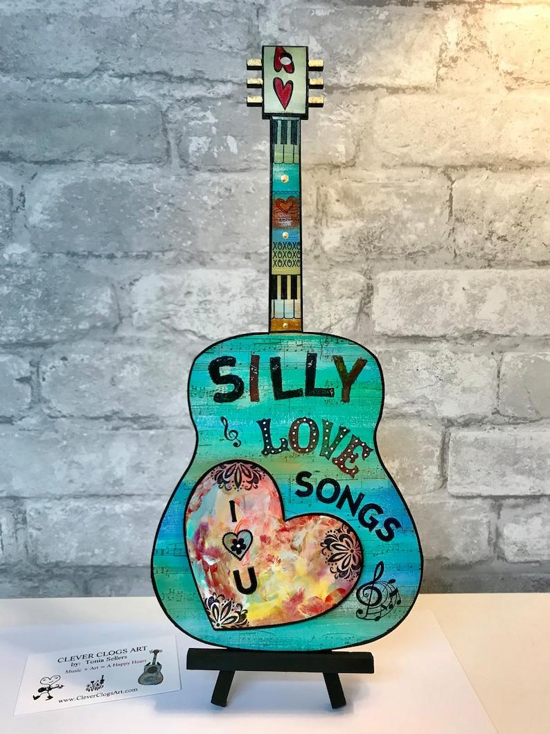 SILLY LOVE SONGS, I heart u, Paul McCartney, guitar, valentines day, music  decor, wings, girlfriend, music fan, love song, piano key, heart