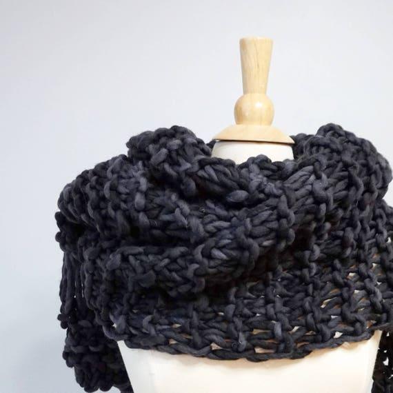 Chunky Knit Scarf Pattern Easy Knit Scarf Knitting Pattern Etsy