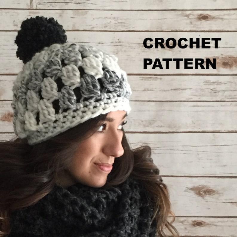59d2d28eb9b Chunky Crochet Hat Pattern Super Easy Puff Stitch Crochet