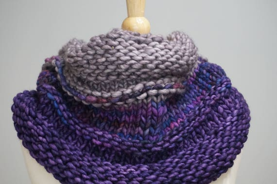 Chunky Cowl Knitting Pattern Bulk Knit Cowl Pattern Central Etsy