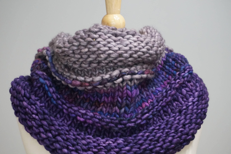 Chunky Cowl Knitting Pattern, Bulk Knit Cowl Pattern, Central Park ...